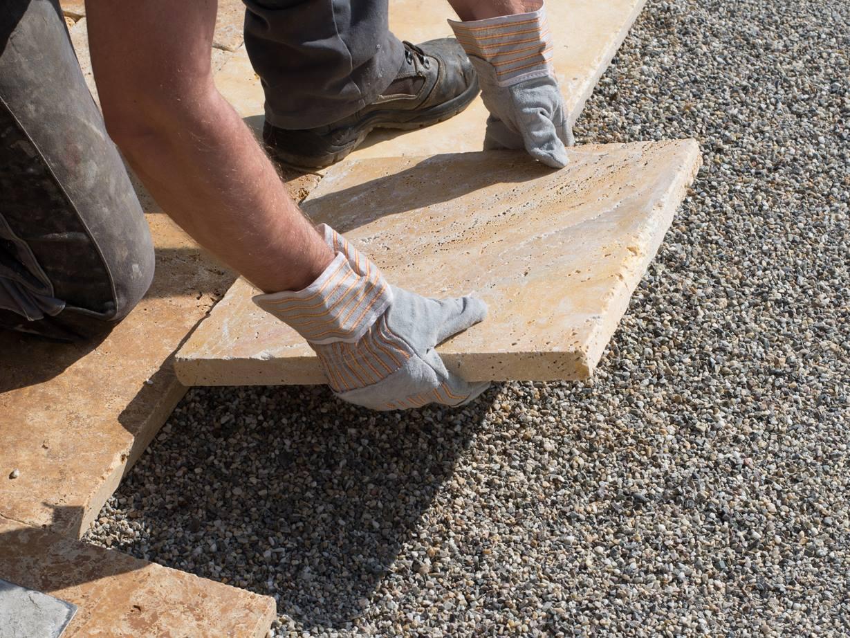 Anleitung Terrassenplatten auf Splitt verlegen – jonastone